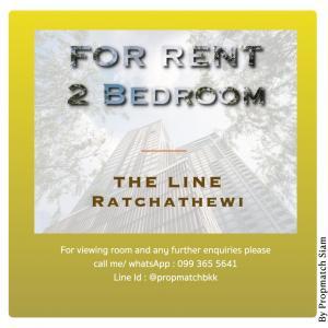For RentCondoRatchathewi,Phayathai : Rent 2 Bedroom #theLine #Ratchathewi  #Bts #Ratchathewi