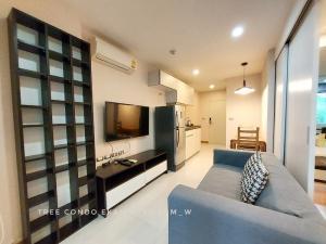 For RentCondoSukhumvit, Asoke, Thonglor : Rent ready to move in. Tree Condo Ekamai 14,000 baht/month, size 40 sq m.