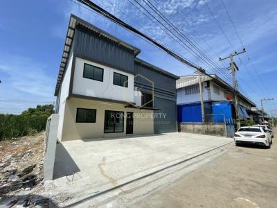 เช่าโกดังรังสิต ธรรมศาสตร์ ปทุม : ให้เช่าโกดัง พร้อมออฟฟิศ 2 ชั้น 260 ตร.ม. ลำลูกกา คลอง 4 Warehouse for rent with office, 2 floors, 260 sq.m., Lam Luk Ka, Khlong 4