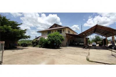 ขายบ้านเชียงราย : Land for sale 6-2-79.3 rai with buildings on a 4-lane road, route 1021, Thoeng-Chiang Kham, about 100 m.