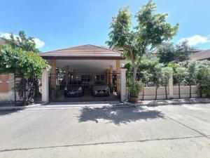 For SaleHouseRattanathibet, Sanambinna : house for sale with certificate (H1254) Nonnicha Village, Phra Nang Klao Bridge (Nonnicha Phra Nangklao Bridge), next to Rattanathibet Road Near the Purple Line 300 meters