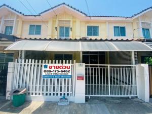 For SaleTownhouseRama 2, Bang Khun Thian : Urgent sale, Baan Pruksa Ville 53/2 Sakae Ngam 14, Rama 2, size 17.50 sq. wa, ready to move in