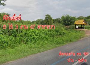 ขายที่ดินน่าน : ขาย ที่ดินจังหวัดน่าน ติดถนนสาย ทล.101 เส้นทาง น่าน-ทุ่งช้าง ⛰