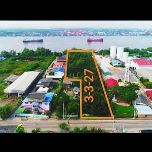 For SaleLandMahachai Samut Sakhon : Land for sale 3 rai 3 ngan, Bang Ya Phraek Municipality. next to Tha Chin River