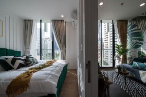 For RentCondoSukhumvit, Asoke, Thonglor : @condorental For rent Noble Recole Sukhumvit 19, beautiful room, good price, ready to move in!!