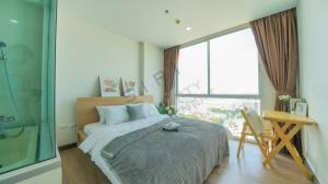 For SaleCondoRamkhamhaeng, Hua Mak : Sell Chewathai Ramkhamhaeng 2 bedrooms, spacious room, not cramped, high floor, clear view Kitchen area, convenient to cook, fully furnished
