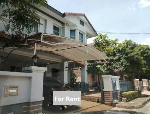 For RentHouseRama5, Ratchapruek, Bangkruai : For Rent 2 storey detached house for rent, Nantawan Village, Rama 5, Nakhon In Road, 4 air conditioners, fully furnished. live only
