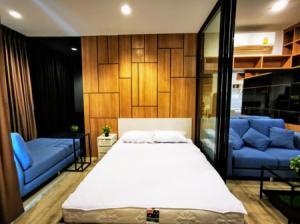 For RentCondoSamrong, Samut Prakan : Condo for rent, KNIGHTSBRIDGE SKY RIVER OCEAN, 28 sqm., 1 bedroom, 8th floor, beautiful decoration, river view, Fully Furnished K2027