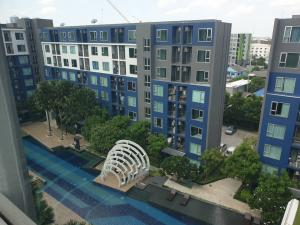 """For SaleCondoVipawadee, Don Mueang, Lak Si : For sale """"Happy Condo The Terminal"""" @Songprapha Don Mueang, Building C, 8th floor, east side Pool view, area 24 sq m."""
