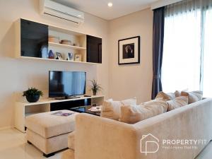 For SaleCondoRama9, RCA, Petchaburi : Near MRT Phetchaburi station, 2 bedrooms 2 bathrooms, size: 85 sq.m., High Floor, Fully furnished.