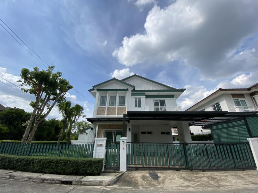 เช่าบ้านนวมินทร์ รามอินทรา : ให้เช่า บ้านเดี่ยวสองชั้นด่วน มัณฑนา รามอินทรา-วงแหวน (Manthana Ramintra-Wongwaen) Type Citrine ขนาดที่ดิน 79 ตร.ว. บ้านหลังมุมถูกที่สุดในโครงการ