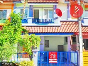 For SaleTownhouseMahachai Samut Sakhon : 2 storey townhouse for sale, Kanda Village, Baan Rim Klong 1, Phanthai Norasing Subdistrict. Samut Sakhon Province