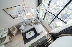 เช่าคอนโดสาทร นราธิวาส : ปล่อยเช่า คอนโดสาธร Duplex สวยหรู  ราคาลดพิเศษ  Knight Bridge Prime สาธร  45 ตรม. 1 ห้องนอน 1 ห้องน้ำ  จาก 39,000 บาท เหลือเพียง 32,000 บาท