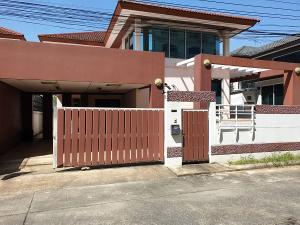 For RentHouseOnnut, Udomsuk : 2 storey detached house for rent, area 67 sq wa, usable area 220 sq m, 3 bedrooms, 3 bathrooms, partially furnished, On Nut Road, Sukhumvit 77, rental price 38,000 baht / m.