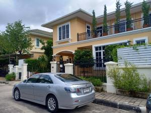 For SaleHouseLadkrabang, Suwannaphum Airport : 2 storey detached house for sale, area 65 square meters, 3 bathrooms, 4 bathrooms, air conditioner, fully furnished, road along the motorway On Nut - Bangna Mega Bangna Department Store, selling price 15 million baht.