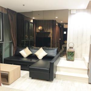 For RentCondoOnnut, Udomsuk : Condo for rent, Ideo Mobi Sukhumvit 81, Duplex room, 2 bedrooms, 61 sqm., 22nd floor, near BTS On Nut.