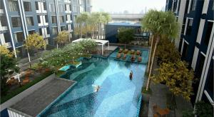 For RentCondoKasetsart, Ratchayothin : Condo for rent, The Niche Mono Ratchavipha, 20th floor, Building B, expressway view.