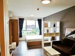 เช่าคอนโดบางนา แบริ่ง : Y8230117 ให้เช่า/For Rent Condo dCondo Campus Resort Bangna (ดีคอนโด แคมปัส รีสอร์ท บางนา) 1นอน 30ตร.ม ห้องสวย เฟอร์ครบ พร้อมอยู่