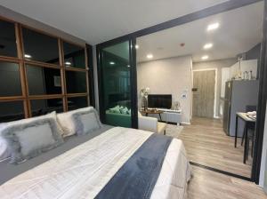For RentCondoVipawadee, Don Mueang, Lak Si : Condo for rent, Modiz Station, near BTS Phaholyothin 59, 1 bedroom, 1 bathroom, size 26.03 sqm., 6th floor ( 1 Bedroom Extra )