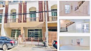 For RentTownhouseLadprao101, The Mall Bang Kapi : (For Rent) 4-storey townhome in Bangkapi area, Premium Place Nawamin-Sukhapiban 1 project, good location, potential to make a home office.