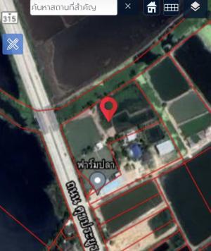 For SaleLandPattaya, Bangsaen, Chonburi : Urgent sale!!! Land adjacent to a four-lane road with a central island, Sukprayun Road (Phanat Nikhom-Pet Riew)