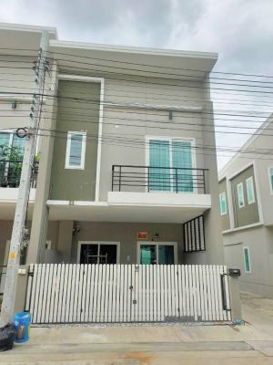 For SaleTownhouseMin Buri, Romklao : For Sale 2-storey townhome for sale, Patagonia Ramintra Project - New Nimit PATAGONIA, ready-to-move-in corner house.