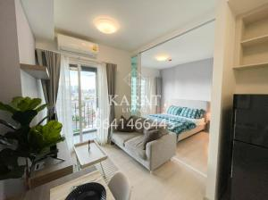 For RentCondoRatchadapisek, Huaikwang, Suttisan : Chapter One Eco for rent Beautiful decor 11,000 THB fully furnished 30sqm fl.12 City View K.Bee 064146-6445 (R5618)