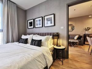 For RentCondoRama9, RCA, Petchaburi : For rent, The Base Garden 2bedroom, 30th floor, size 51 sqm, north corner room, open view