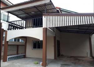 For RentHouseSamrong, Samut Prakan : 2 storey detached house for rent, size 54 sq m. Soi Thiphawan Village Thepharak (3 bedrooms, 2 bathrooms, 1 kitchen) 💢 For rent 13,500 / month 💢