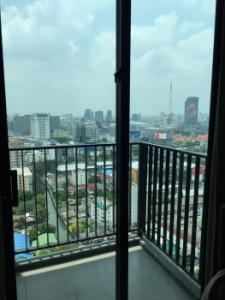 For RentCondoRama9, RCA, Petchaburi : Urgent rent, leaked room, cheapest on the web, plus high floor, Condolette Misdt Condo Rama 9