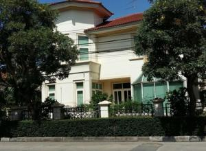For RentHouseRangsit, Patumtani : For Rent 2 storey detached house for rent, behind the corner of 84 square meters, Passorn Village 4, next to the main road Rangsit - Nakhon Nayok, Khlong 3, beautiful house, 5 air conditioners, Fully Furnished, living only. Pets are not allowed