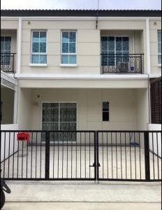 For RentTownhouseSamrong, Samut Prakan : Townhome for rent, 3 bedrooms, 2 bathrooms, Pruksa Ville project, Sukhumvit, Bang Pu, good condition, price negotiable.