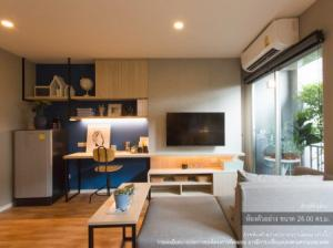 For SaleCondoOnnut, Udomsuk : Condo for sale, located near BTS Punnawithi and the yellow line, Suan Luang Rama IX Station, Lumpini Ville, Sukhumvit 101-1, 24.12 sqm.