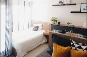 For RentCondoOnnut, Udomsuk : Condo for rent Life Sukhumvit 62 BA21_07_124_05 beautiful room, beautiful decoration, complete electrical appliances, price 12,999 baht.