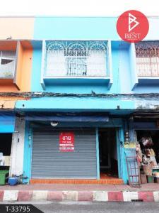 For SaleTownhouseChanthaburi : 2 storey townhome for sale, beautiful decoration, golden location, next to the fountain market Mueang Chanthaburi District, Chanthaburi Province