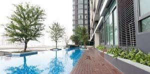 For RentCondoWongwianyai, Charoennakor : Condo for rent, Ideo Bluecove, 40 meters from BTS Wongwian Yai.