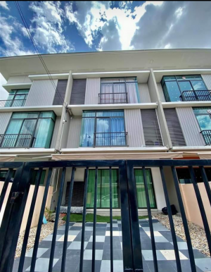 For RentTownhouseVipawadee, Don Mueang, Lak Si : 💥Townhome 3 floors next to Robinson Srisamarn Promotion price, can be used as a Home Office Project Pruksa Ville 65/2