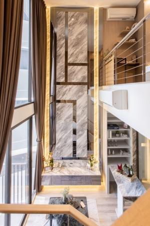 For RentCondoRama9, RCA, Petchaburi : For rent Rent smart home condo !! Ideo mobi asoke (Ideo Mobi Asoke) MRT Phetchaburi 1 bed Duplex 47.25 sq.m. high floor price 32,000 baht, built-in decoration, very beautiful like a sample room !!