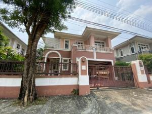 For RentHousePattanakan, Srinakarin : For Rent 2 storey detached house for rent, Nantawan Village, Srinakarin, big house, 100 square meters, 4 air conditioners, fully furnished. live only can raise animals