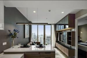 For RentCondoSathorn, Narathiwat : Condo Nara 9 Sathorn, near BTS Chong Nonsi, next to BRT, housing area 43 sq.m., 40th floor, 1 bedroom, 1 bathroom