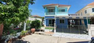 For SaleHouseRathburana, Suksawat : 2 storey detached house for sale, behind the corner of Chuan Chuen Pracha Uthit Village, Thung Khru District, Bangkok.