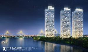 For SaleCondoRama3 (Riverside),Satupadit : Luxury Condo for Sale!! 3 Beds 30+ High Floor - Supalai Riva Grande @12.09 MB