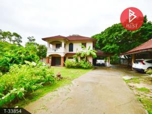 For SaleHousePattaya, Bangsaen, Chonburi : Selling cheap single houses, Soi Mittraphap 1, Kao Kilo Road, Surasak Subdistrict, Si Racha District, Chonburi Province.