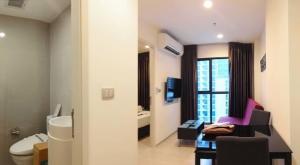 For RentCondoRama9, RCA, Petchaburi : Condo for rent Rhythm Asoke 2 BA21_07_076_02. electrical appliances Fully furnished, price 12,999 baht