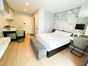 For RentCondoSukhumvit, Asoke, Thonglor : Condo for rent, beautiful room, garden view, The Nest, Sukhumvit 22, 24 sqm., good price, near MRT-BTS