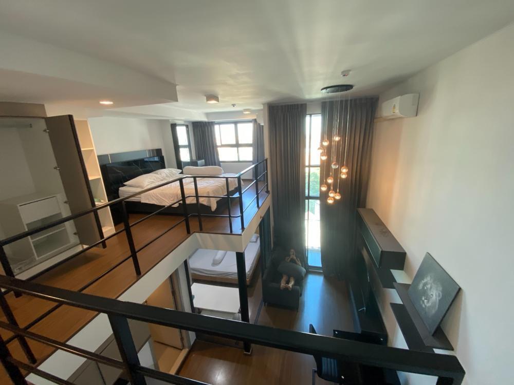 For RentCondoRama9, RCA, Petchaburi : Ideo New Rama9 for rent, cheap price, Duplex, beautiful room