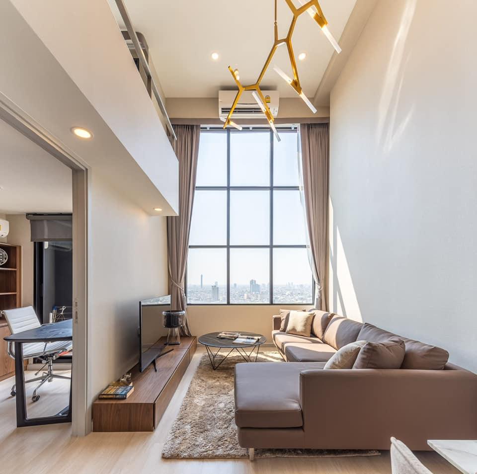 เช่าคอนโดสาทร นราธิวาส : 🔥KNIGHTSBRIDGE PRIME SATHORN🔥 ห้องสองชั้น 1 ห้องนอน 1 ห้องน้ำ 1 ห้องทำงาน แต่งสวย ชั้นสูง ราคาดีมาก//สอบถามเพิ่มเติม@Rabbitcondo