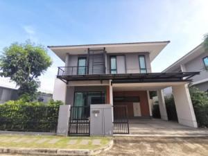 ขายบ้านปิ่นเกล้า จรัญสนิทวงศ์ : ขาย บ้านเดี่ยว บ้านหลังริม เศรษฐสิริจรัญปิ่นเกล้า 175 ตรม. 57 ตร.วา หน้าบ้านหันทิศเหนือ