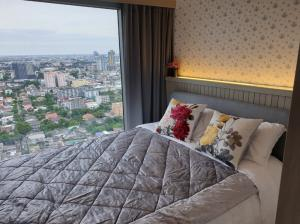 For SaleCondoOnnut, Udomsuk : HM-0192 Condo for sale, Whizdom Connect Sukhumvit, furniture, electrical appliances. Ready to move in immediately, convenient transportation, near BTS Punnawithi