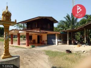 For SaleLandChumphon : Land for sale with buildings, area of 3 rai, Tha Sae, Chumphon.